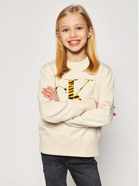 Calvin Klein Jeans Calvin Klein Jeans Pulóver Urban Animal IG0IG00695 Bézs Regular Fit