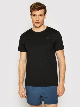 4F 4F T-Shirt NOSH4-TSM003 Czarny Regular Fit
