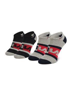 Fila Fila Lot de 2 paires de chaussettes basses unisexe Calza Invisibile F9623 Gris