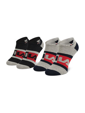 Fila Fila Unisex trumpų kojinių komplektas (2 poros) Calza Invisibile F9623 Pilka