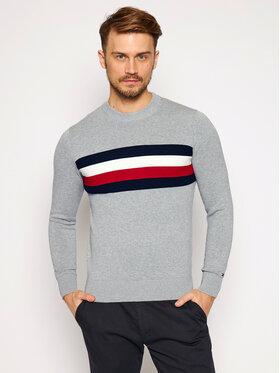 TOMMY HILFIGER TOMMY HILFIGER Sweater Signature Colour Blocked MW0MW15439 Szürke Regular Fit