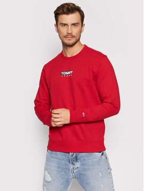 Tommy Jeans Tommy Jeans Pulóver Entry Graphic DM0DM11627 Piros Regular Fit