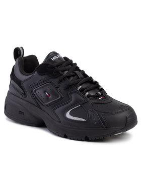 Tommy Jeans Tommy Jeans Laisvalaikio batai Heritage Sneaker EM0EM00373 Juoda