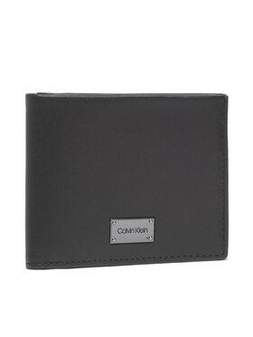Calvin Klein Calvin Klein Голям мъжки портфейл Lux Plaque Bifold Scc W/Coin K50K507403 Черен