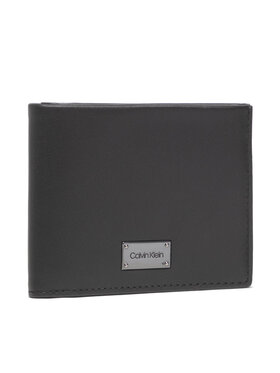 Calvin Klein Calvin Klein Portofel Mare pentru Bărbați Lux Plaque Bifold Scc W/Coin K50K507403 Negru