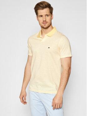 Tommy Hilfiger Tommy Hilfiger Polo marškinėliai Linen MW0MW17779 Geltona Slim Fit