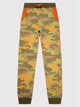 Guess Guess Teplákové nohavice L1BQ11 KAD70 Zelená Regular Fit