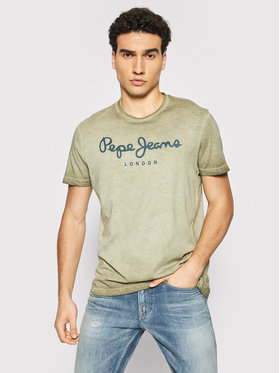 Pepe Jeans Pepe Jeans T-shirt West Sir New PM508009 Verde Regular Fit