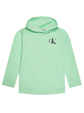 Calvin Klein Jeans Calvin Klein Jeans Bluză Unisex Smal Monogram IU0IU00164 Verde Regular Fit