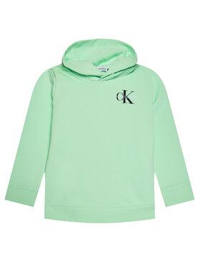 Calvin Klein Jeans Calvin Klein Jeans Bluza Unisex Smal Monogram IU0IU00164 Zielony Regular Fit