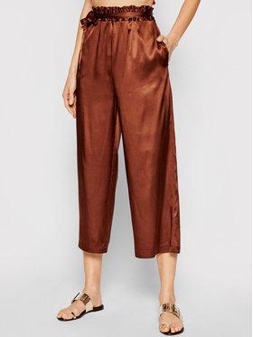 Pinko Pinko Панталони тип кюлоти Anima Fragile 20211 PSPG 1N135H 8521 Кафяв Regular Fit