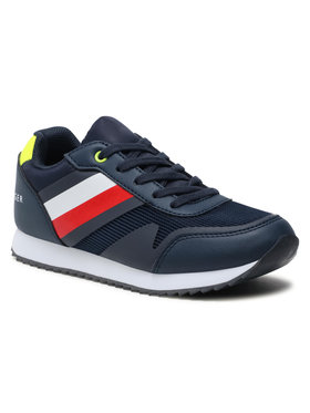 Tommy Hilfiger Tommy Hilfiger Sneakersy Low Cut Lace-Up Sneaker T3B4-31097-1176 M Granatowy