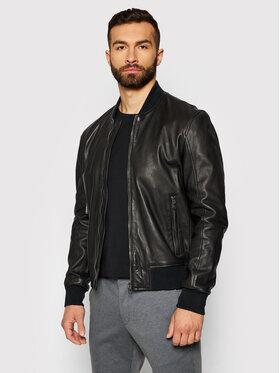 Joop! Joop! Kožená bunda Boost 1500137 Čierna Regular Fit