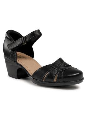 Clarks Clarks Pantofi Emily Daisy 261574984 Negru