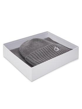 Calvin Klein Calvin Klein Kepurės ir šaliko komplektas Knited Beanie + Scarf K50K506122 Pilka