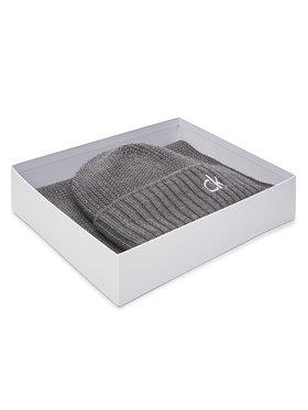 Calvin Klein Calvin Klein Комплект шал и шапка Knited Beanie + Scarf K50K506122 Сив