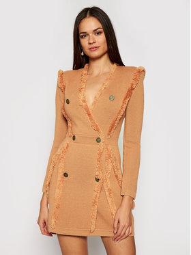 Elisabetta Franchi Elisabetta Franchi Džemper haljina AM-70S-07E2-V469 Ružičasta Slim Fit