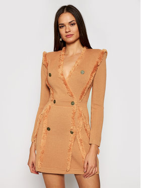 Elisabetta Franchi Elisabetta Franchi Úpletové šaty AM-70S-07E2-V469 Růžová Slim Fit