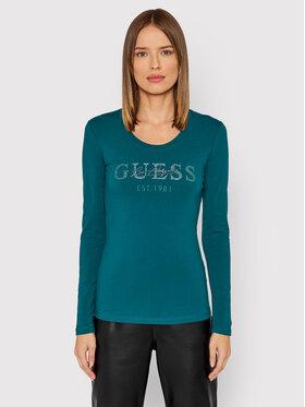 Guess Guess Bluză Izaga Tee W1BI03 J1311 Verde Slim Fit