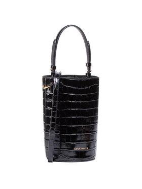 Coccinelle Coccinelle Дамска чанта H71 Jude Croco Shiny Soft E1 H71 23 02 01 Черен