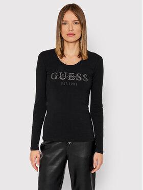 Guess Guess Bluză Izaga Tee W1BI03 J1311 Negru Slim Fit