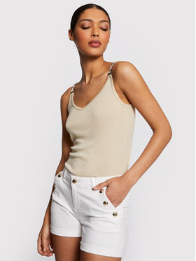 Morgan Morgan Дънкови шорти 201-SHANA1 Бял Regular Fit