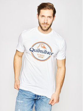 Quiksilver Quiksilver T-Shirt Words Remain EQYZT05753 Bílá Regular Fit