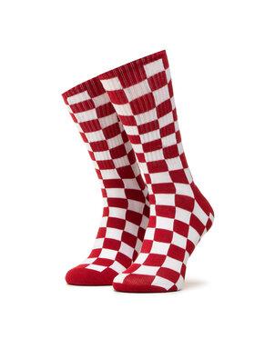 Vans Vans Vysoké dámske ponožky Checkerboard Crew VN0A3H3NRLM1 r.38,5/42 Červená