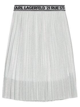 KARL LAGERFELD KARL LAGERFELD Sukně Z13070 S Stříbrná Regular Fit