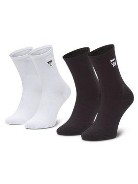 KARL LAGERFELD KARL LAGERFELD Súprava 2 párov vysokých dámskych ponožiek 206W6001 Biela