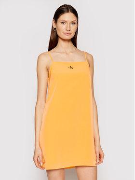 Calvin Klein Jeans Calvin Klein Jeans Každodenné šaty J20J215669 Oranžová Regular Fit