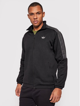 adidas adidas Majica dugih rukava Sprt 3-Stripes Track GN2447 Crna Regular Fit