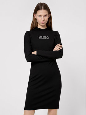 Hugo Hugo Strickkleid Dassy 50449838 Schwarz Slim Fit