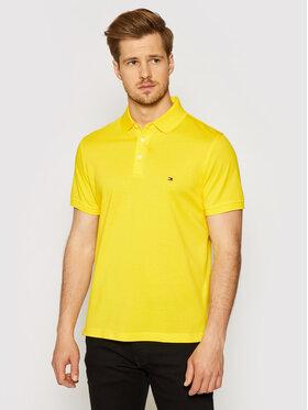 Tommy Hilfiger Tommy Hilfiger Тениска с яка и копчета 1985 MW0MW17771 Жълт Slim Fit