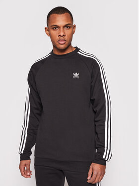 adidas adidas Bluză adicolor Classics 3-Stripes Crew GN3487 Negru Regular Fit