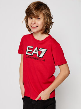 EA7 Emporio Armani EA7 Emporio Armani T-Shirt 6HBT53 BJ7CZ 1451 Rot Regular Fit