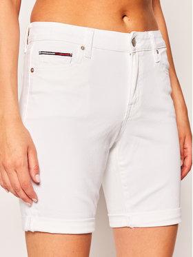 Tommy Jeans Tommy Jeans Džínsové šortky DW0DW08162 Biela Regular Fit