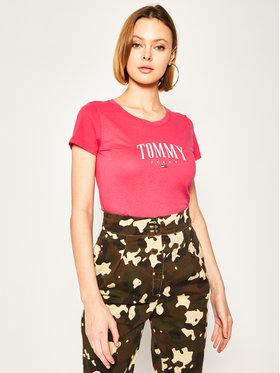 Tommy Jeans Tommy Jeans Tričko Tjw Script Tee DW0DW08061 Ružová Regular Fit