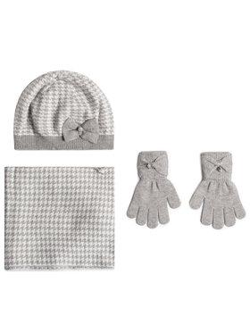 Mayoral Mayoral Комплект шапка, шал тип комин и ръкавици 10895 Сив