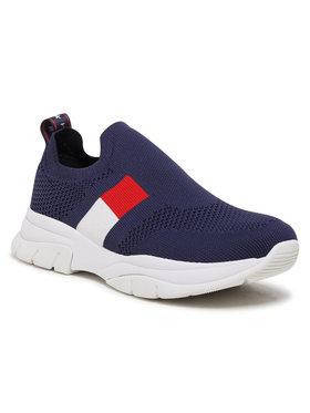 Tommy Hilfiger Tommy Hilfiger Sneakersy Low Cut Sneaker T3A4-31030-0702 S Granatowy