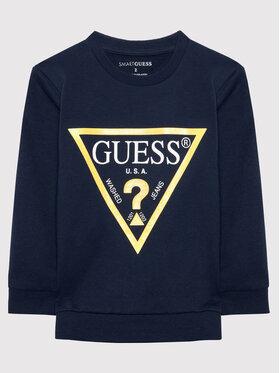 Guess Guess Μπλούζα N73Q10 KAUG0 Σκούρο μπλε Regular Fit