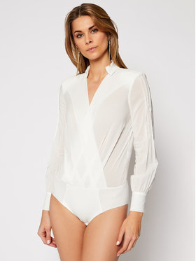 Elisabetta Franchi Elisabetta Franchi Body CB-016-07E2-V279 Weiß Slim Fit
