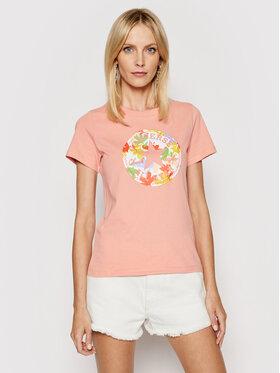 Converse Converse T-shirt Flower Vibes Chuck Patch 10022172-A03 Rosa Standard Fit