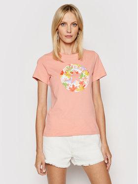 Converse Converse T-shirt Flower Vibes Chuck Patch 10022172-A03 Ružičasta Standard Fit
