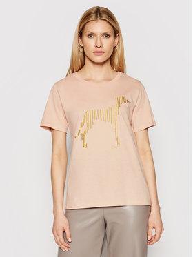 Trussardi Trussardi T-Shirt 56T00357 Różowy Regular Fit