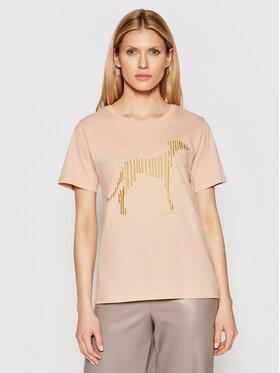 Trussardi Trussardi T-shirt 56T00357 Ružičasta Regular Fit