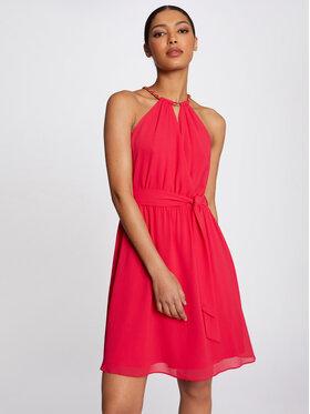Morgan Morgan Koktejlové šaty 211-RNESSA Růžová Regular Fit