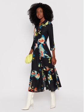 Desigual Desigual Рокля тип риза MONSIEUR CHRISTIAN LACROIX Bruselas 21WWVW69 Черен Regular Fit
