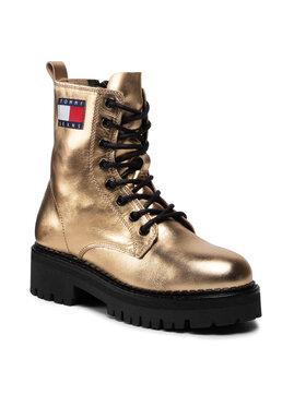 Tommy Jeans Tommy Jeans Trapery Metallic Lace Up Boot EN0EN01604 Złoty