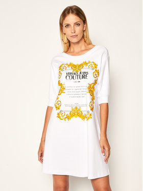 Versace Jeans Couture Versace Jeans Couture Každodenné šaty D2HZA4TB Biela Regular Fit